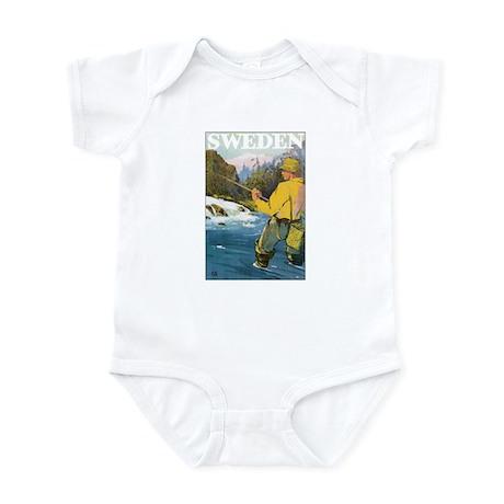 Fishing Sweden Infant Bodysuit