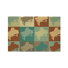 Harpsichord Pop Art Rectangle Magnet