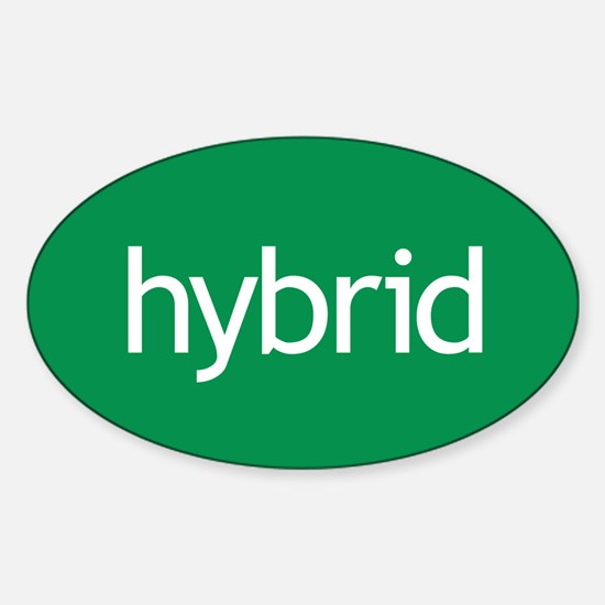 Hybrid green Oval Decal