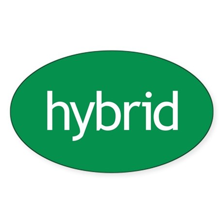 Hybrid green Oval Sticker