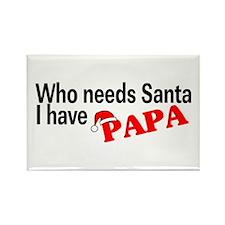Who Needs Santa, I Have Papa Rectangle Magnet