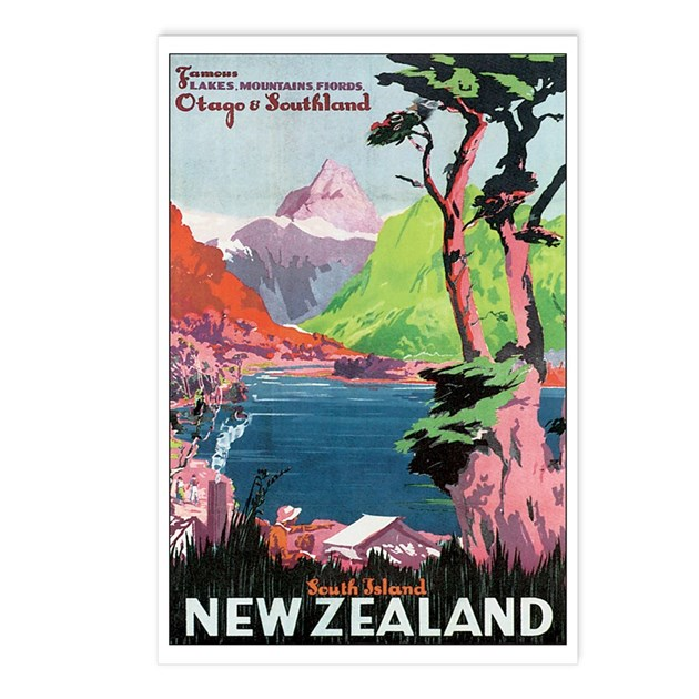 Otago New Zealand Postcards (Package Of 8) By Caferetro