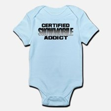 Certified Snowmobile Addict Infant Bodysuit