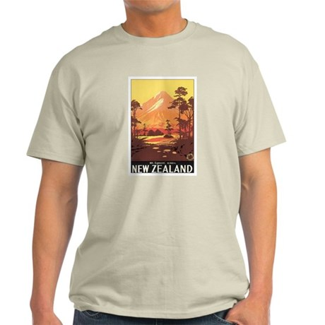 Mount Egmont New Zealand Light T-Shirt