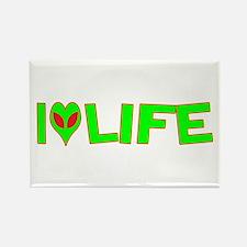 I Love-Alien Life Rectangle Magnet