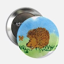 """Hedgehog and Butterfly 2.25"""" Button"""