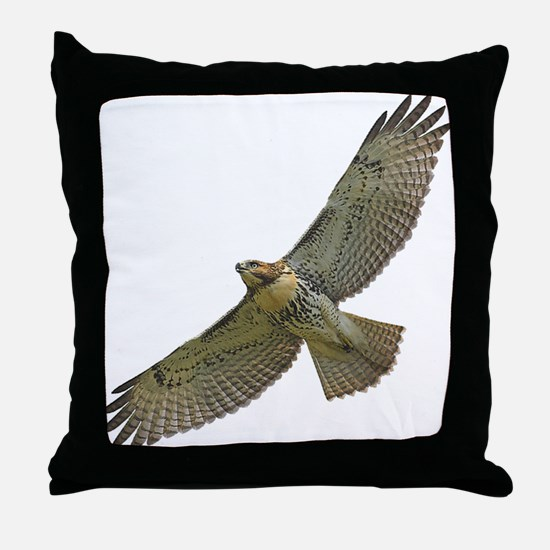 Soaring Red-tail Hawk Throw Pillow