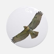 Soaring Red-tail Hawk Ornament (Round)