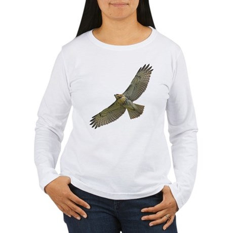 Soaring Red-tail Hawk Women's Long Sleeve T-Shirt