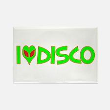 I Love-Alien Disco Rectangle Magnet