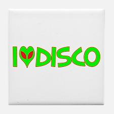 I Love-Alien Disco Tile Coaster
