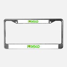 I Love-Alien Disco License Plate Frame