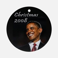 Barack Obama Christmas Ornament (Round)