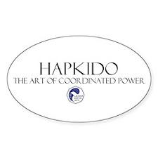 Hapkido Oval Decal