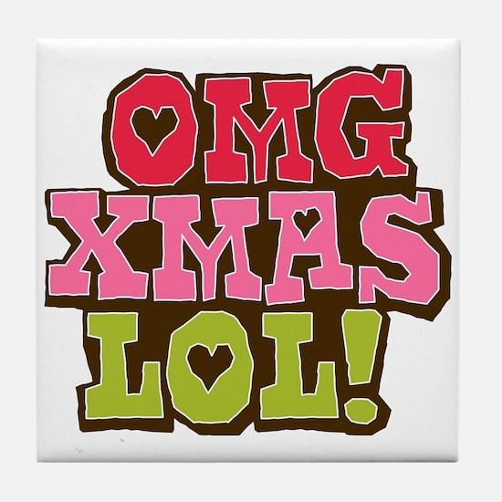 OMG Xmas LOL Tile Coaster