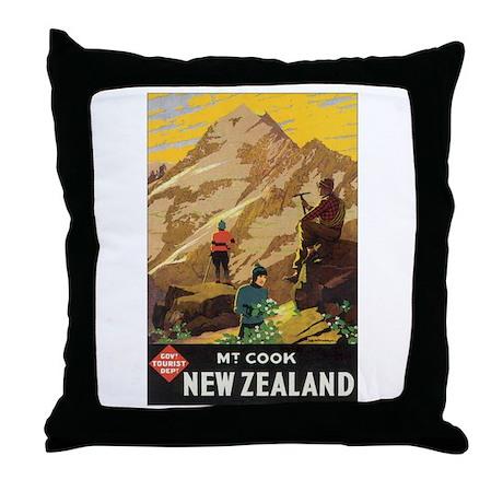 Mount Cook New Zealand Throw Pillow