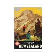 Mount Cook New Zealand Rectangle Decal