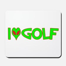 I Love-Alien Golf Mousepad