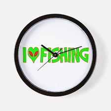 I Love-Alien Fishing Wall Clock