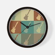 Guitar Pop Art Wall Clock