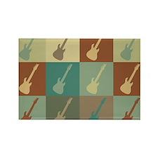 Guitar Pop Art Rectangle Magnet