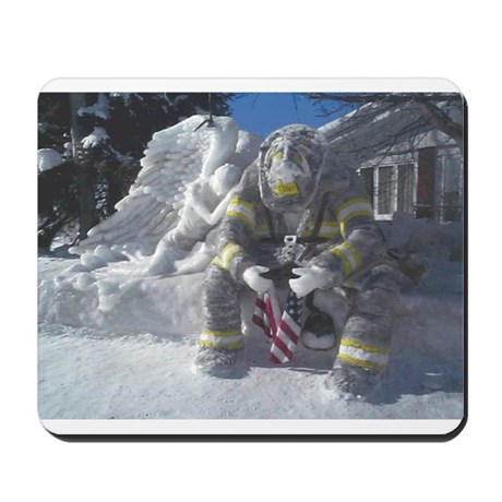 Firefighter/Angel Mousepad
