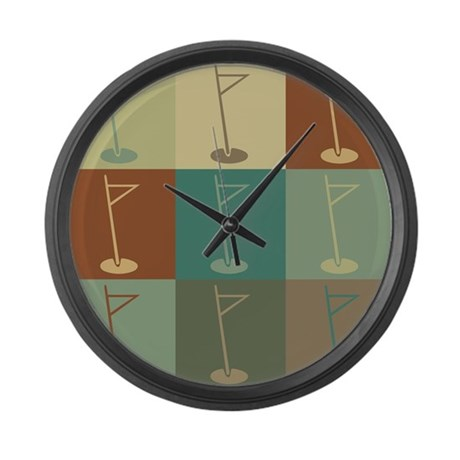 Golf Pop Art Large Wall Clock