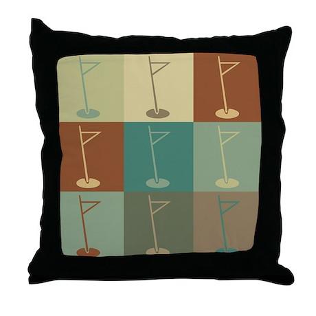 Golf Pop Art Throw Pillow