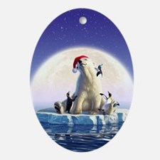 Penguin Pals 5 Oval Ornament