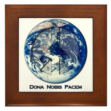 Dona Nobis Pacem Framed Tile