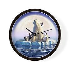 Penguin Pals 6 Wall Clock
