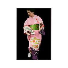 Japanese Stage Dancer Rectangle Magnet
