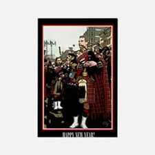 Cute Scottish new year Rectangle Magnet