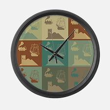 German Board Games Pop Art Large Wall Clock