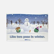 in winter Rectangle Magnet (100 pack)
