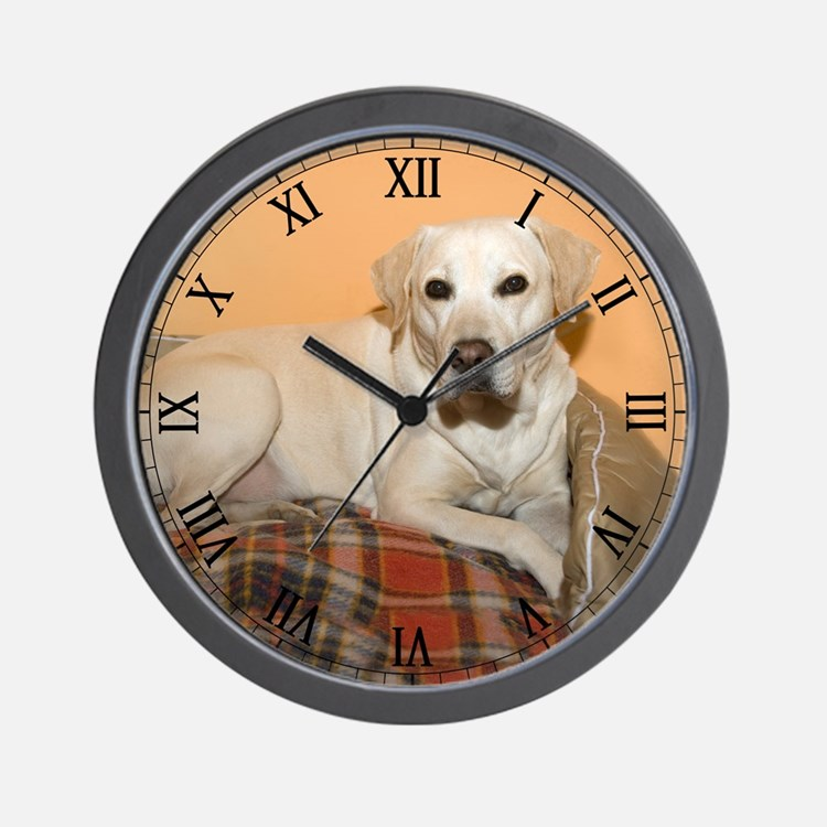 Yellow Labrador Retriever Dog Wall Clock