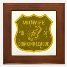 Midwife Drinking League Framed Tile