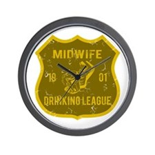 Midwife Drinking League Wall Clock