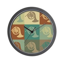 French Horn Pop Art Wall Clock