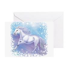Unicorn Over The Rainbow Greeting Card