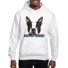 Boston Terrier Aqua Letters Hoodie