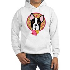 Boston Terrier with Cupcake Hoodie