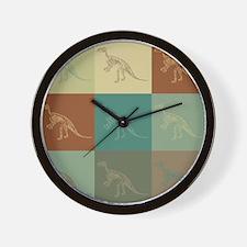 Fossils Pop Art Wall Clock