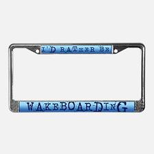 Wakeboarder License Plate Frame