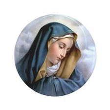 "Our Lady of Sorrows 3.5"" Button"