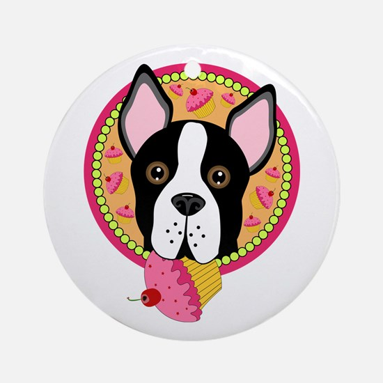 Sweet Boston Terrier Ornament (Round)
