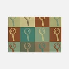 Forensic Science Pop Art Rectangle Magnet