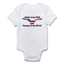 Home of the Free Infant Bodysuit