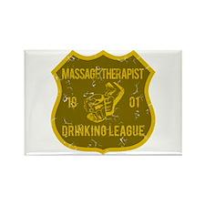 Massage Therapist Drinking League Rectangle Magnet