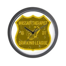 Massage Therapist Drinking League Wall Clock